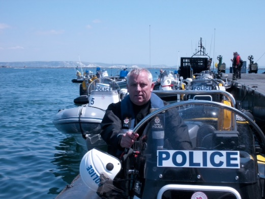 police powerboat