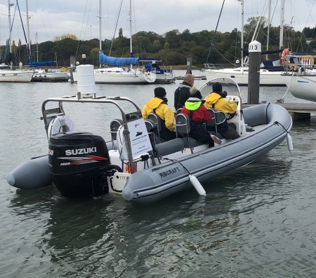 Power boat training in Southampton